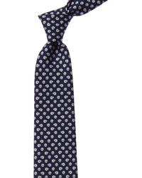 Ferragamo Navy Sheep Silk Tie - Blue
