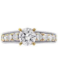 Diana M. Jewels . Fine Jewellery 18k Two-tone 1.76 Ct. Tw. Diamond Ring - Metallic