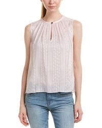 Rebecca Taylor Striped Silk Top - Pink