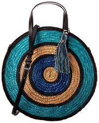 Rebecca Minkoff Straw Circle Tote - Blue