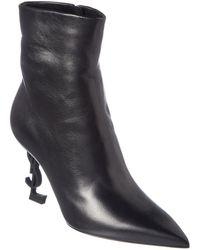 Saint Laurent Opyum 85 Leather Bootie