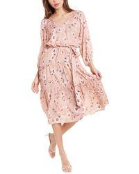 Velvet By Graham & Spencer Maddy Midi Dress - Pink