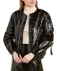 Helmut Lang Mylar Bomber Jacket - Black