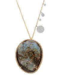 Meira T - 14k Two-tone 27.37 Ct. Tw. Diamond & Boulder Opal Necklace - Lyst