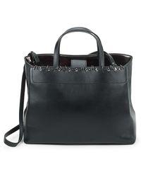 Stuart Weitzman Studded Leather Tote Bag - Black
