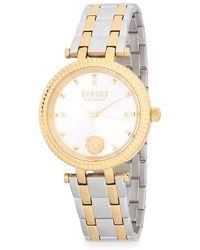 Versus - Posh Two-tone Bracelet Watch - Lyst