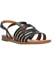 Franco Sarto Gabrina Leather Sandal - Black