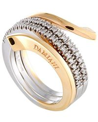 Damiani - 18k Two-tone 0.38 Ct. Tw. Diamond Ring - Lyst