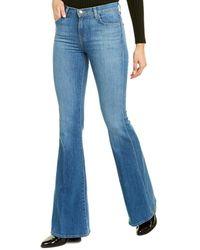 J Brand Valentina Endeavour High-rise Flare Leg Jean - Blue