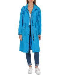 Avec Les Filles Oversized Anorak Jacket - Blue