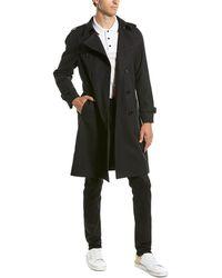 Céline Wool-blend Trench Coat - Black