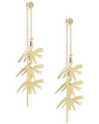 Noir Jewelry   Coconut Plant Threader Earrings   Lyst