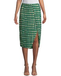 Plenty by Tracy Reese Printed Surplice Skirt - Green