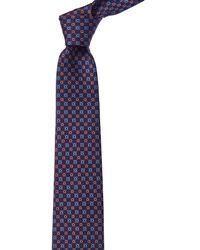 Ferragamo - Marine Blue Gancini Silk Tie - Lyst