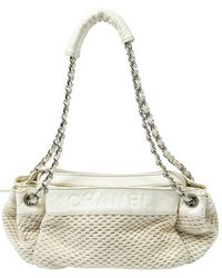 Chanel Limited Edition Ivory Woven Rock N Chic Bag - Multicolour