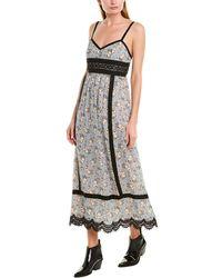 Anna Sui Daisy Dots Maxi Dress - Blue