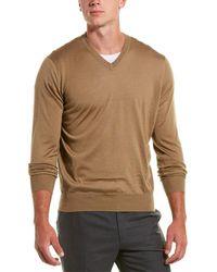 Brunello Cucinelli Cashmere V-neck Sweater - Brown