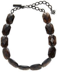Oscar de la Renta - Glass Necklace - Lyst