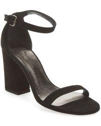 Stuart Weitzman - Walkway Leather Sandal - Lyst