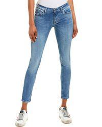 Hudson Jeans Krista Cool Blue Super Skinny Crop