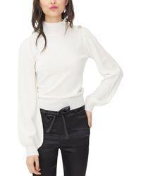 Generation Love Blouson Wool & Cashmere-blend Top - White
