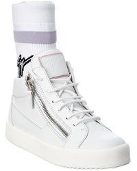 Giuseppe Zanotti Frankie Plus Leather High-top Sneaker - White