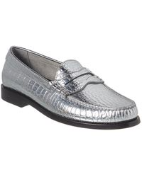 Céline Luco Metalized Leather Loafer - Metallic
