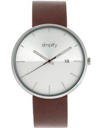 Simplify Unisex The 6400 Watch - Metallic