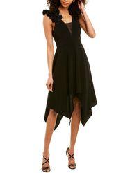 Halston Midi Dress - Black