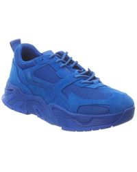 Marcelo Burlon C-run Suede & Mesh Trainer - Blue