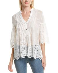 Johnny Was Huma Silk-blend Top - White