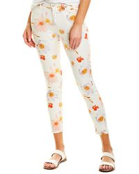 7 For All Mankind 7 For All Mankind The Ankle Skinny Bow Blossom Floral Slim Leg - White