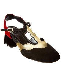 Marni Block Heel Slingback Court Shoes - Black