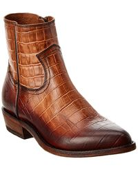 Frye Billy Leather Bootie - Brown