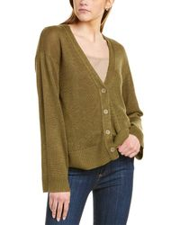 INHABIT Linen Cardigan - Green