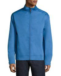 Peter Millar Crown Soft Bomber Jacket - Blue