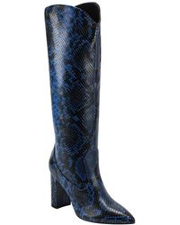 Marc Fisher Uday Leather Boot - Blue