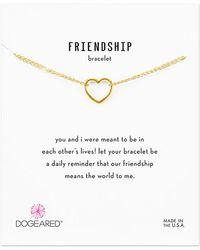 Dogeared 14k Over Silver Friendship Bracelet - Metallic