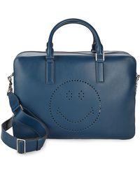 Anya Hindmarch - Walton Smiley Leather Briefcase - Lyst