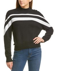 ATM Anthony Thomas Melillo Jacquard Stripe Jumper - Black