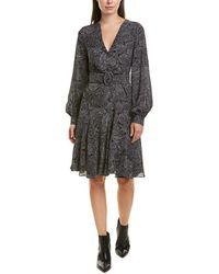 Michael Kors Silk A-line Dress - Gray
