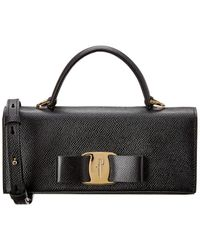 Ferragamo Vara Bow Mini Bag - Black