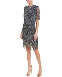 Isabel Marant Etoile Geometric Print Shift Dress - Black