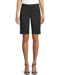 Saks Fifth Avenue Black Bermuda Shorts - Black