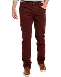 Hudson Jeans Blake Burgundy Slim Straight Leg - Purple