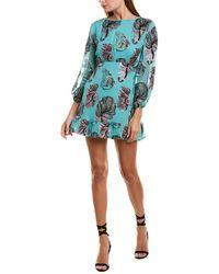 Cynthia Rowley Womens Metallic Shift Dress