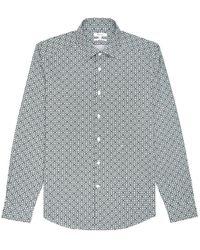Reiss Blanca Circle Pattern Long Sleeve Shirt - Multicolour
