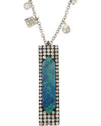 Meira T 14k & Silver 1.85 Ct. Tw. Diamond & Opal Necklace - Multicolor