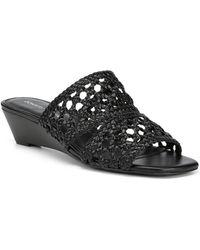 Donald J Pliner Albi Woven Wedge Sandal - Black