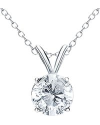 Diana M. Jewels . Fine Jewellery 18k 0.50 Ct. Tw. Diamond Necklace - Metallic